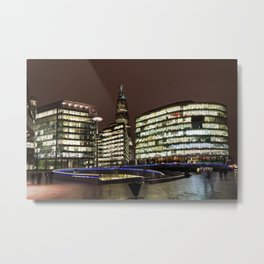 The Shard of Glass and the scoop Metal Print