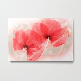 Poppies(airiness). Metal Print