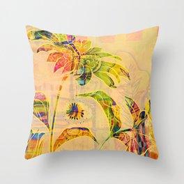 Sungold Sunflower Throw Pillow