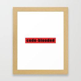 Code-blooded Framed Art Print