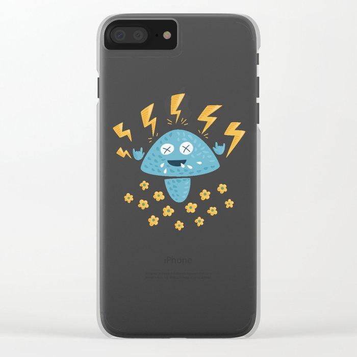 Heavy Metal Mushroom Clear iPhone Case