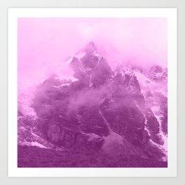 Rocky Mountain Fog Fuchsia Art Print
