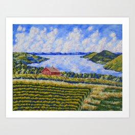 Vineyard On Canandaigua Lake Art Print
