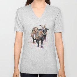 Inky Goat Unisex V-Neck
