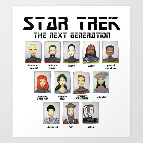STAR TREK THE NEXT GENERATION Art Print