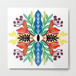 Tropical Spring Mandala : Eye of the protector Metal Print