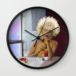 Cafe Red Wall Clock