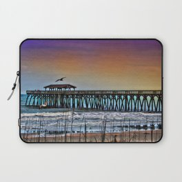 Myrtle Beach State Park Pier - Photo as Digital Paint Laptop Sleeve