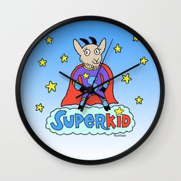 Superkid Wall Clock