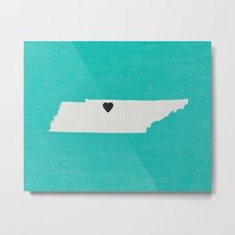 Tennessee Love Metal Print