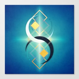 Crescent Moon Double :: Floating Geometry Canvas Print