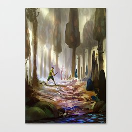 Playing in the woods Canvas Print