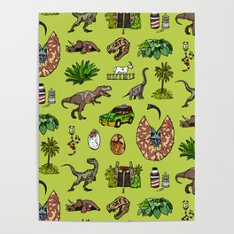 Jurassic pattern lighter Poster