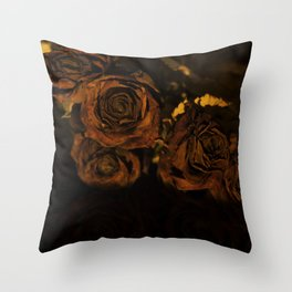 Withered roses Throw Pillow
