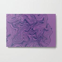 Two-toned purple Agate Metal Print