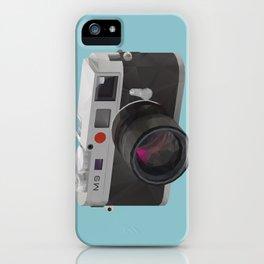 Leica M9 Camera polygon art iPhone Case