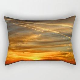 Fiery Sunset Over Naples Beach Rectangular Pillow