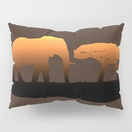 Elephant Sunset Pillow Sham