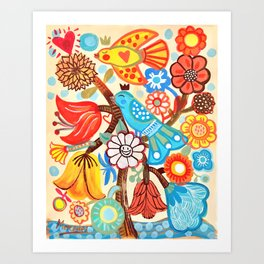 Pop Flowers Art Print