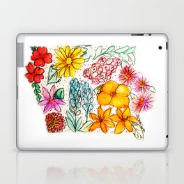 Hand Painted Iowa State Map Laptop & iPad Skin