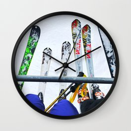 Ski All Day Wall Clock