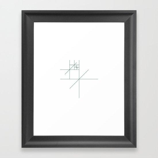 #321 Star gazer – Geometry Daily Framed Art Print