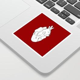 Red Anatomical Heart Sticker