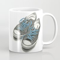 converse Mugs featuring Converse by Anthony Billings