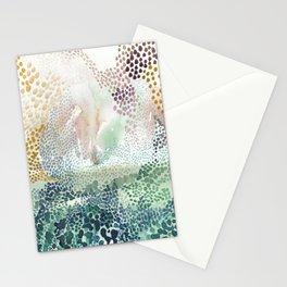 Flower burst; gold Stationery Cards