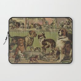 Vintage Illustration of Various Dog Breeds (1893) Laptop Sleeve