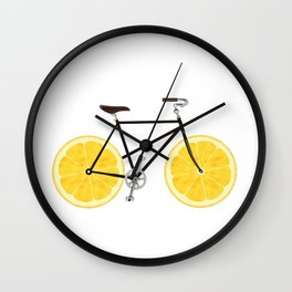 Lemon Bike Wall Clock