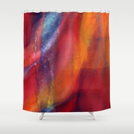 A Dance of Colors - Digital Painting Shower Curtain