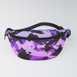 Gradient pink and purple camo. Fanny Pack