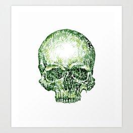Tropical Skull ! Art Print