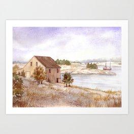Fisherman's House Art Print