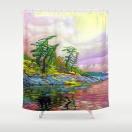 Wind Sculpture by Amanda Martinson Shower Curtain