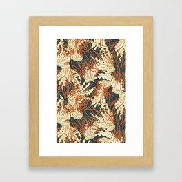 jellyfish slate Framed Art Print