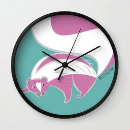 Skunk Le Pink (c) 2017 Wall Clock