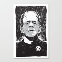 frankenstein Canvas Prints featuring Frankenstein by Matt Fontaine