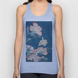 Katsushika Hokusai - Peonies and Canary, 1834 Unisex Tank Top