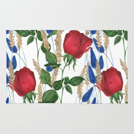 Roses and Ears Rug