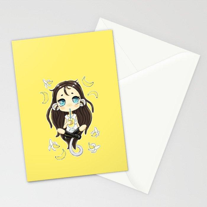 Banana Milkshake Stationery Cards