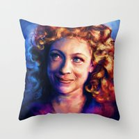 river song Throw Pillows featuring River Song by Alice X. Zhang