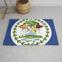 Belize flag emblem Rug