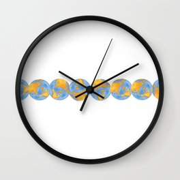 Chikyu (Earth) Wall Clock