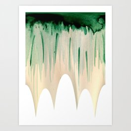 Green Drip Art Print