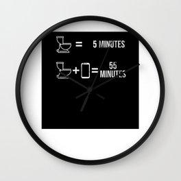5 Minutes 55 Minutes Geschenk für Smartphone-Süchtiger Wall Clock