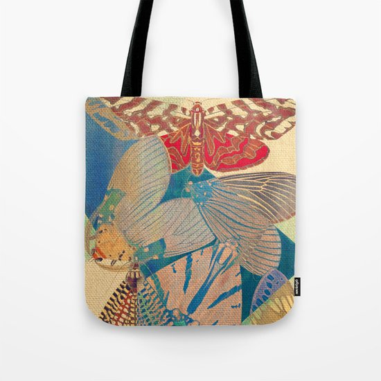 Triangle of Butterflies Tote Bag