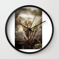 plant Wall Clocks featuring PLANT by zulema revilla