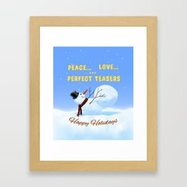 Peace, Love and Perfect Teasers Pilates Holiday art. Framed Art Print